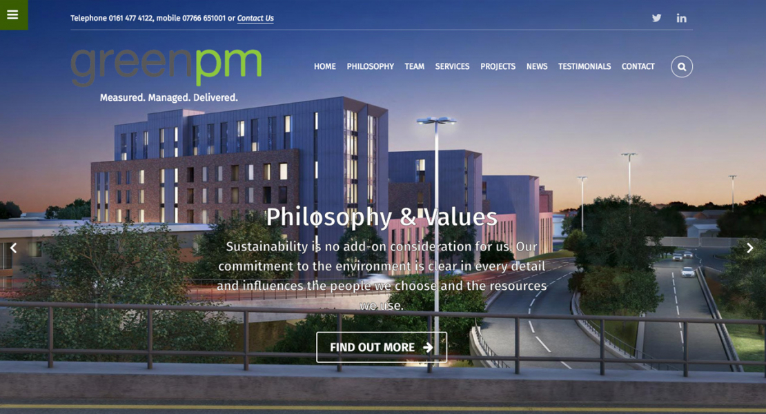 green-project-management-construction-website-news-content-management-system-stockport